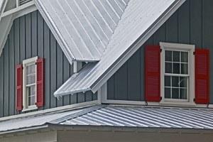 metal roof silver